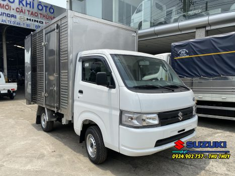 xe tải suzuki 700kg thùng kín inox